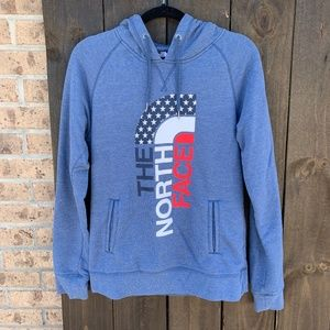 The North Face Blue American Flag Sweatshirt Med
